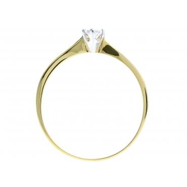 Złoty pierścionek Delikatny wzór Prezent 2.1046