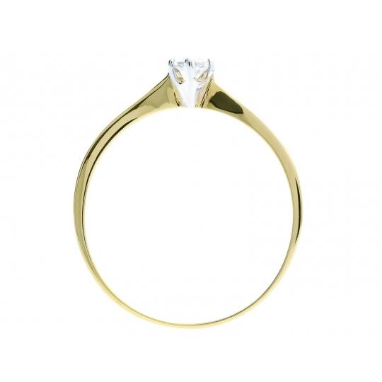 Złoty pierścionek Delikatny wzór