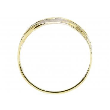 Złoty pierścionek Cyrkonie Fala Prezent 2.512