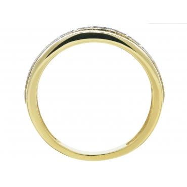 ZŁOTA OBRĄCZKA Z KAMIENIAMI pierścionek 3.1502