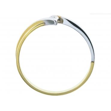 Elegancki złoty pierścionek Cyrkonia 3.1540