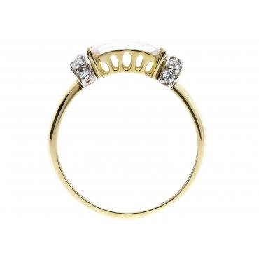 Piękny Złoty pierścionek Cyrkonie PREZENT 1.59