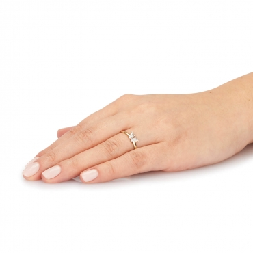 Złoty pierścionek MOTYL 1.1004