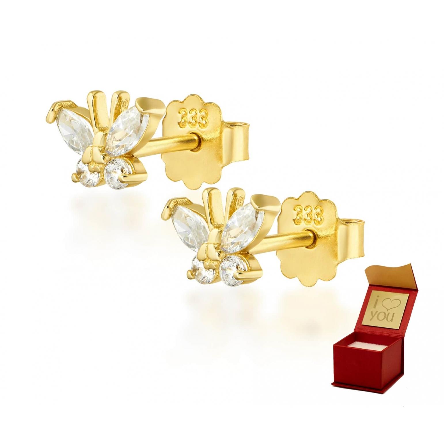 Złote kolczyki MOTYLKI 1.158