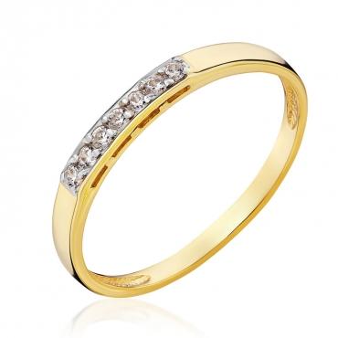 Złoty pierścionek z kamieniami