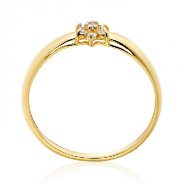 Złoty pierścionek Kwiatek