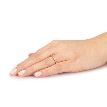 Złoty Pierścionek z kamieniem