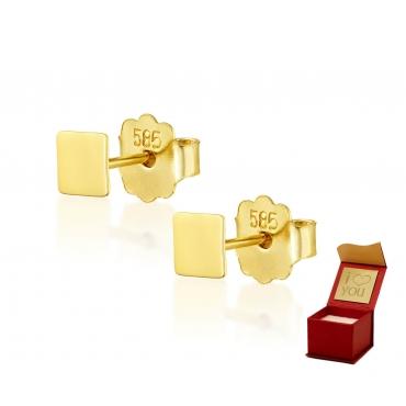 Złote kolczyki Figaro próba 585