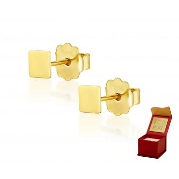 Złote kolczyki Figaro