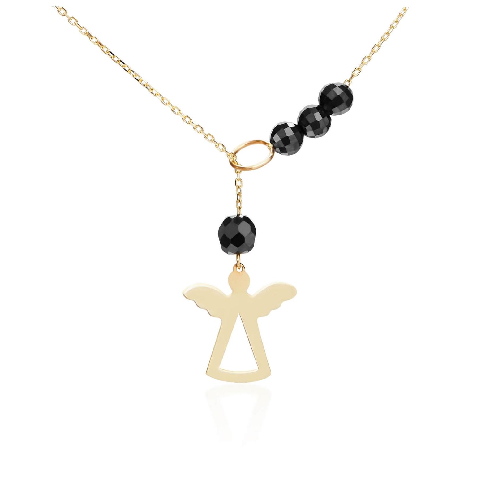 a21120b14235bc Złoty łańcuszek celebrytka z aniołkiem - C.303 - ERgold