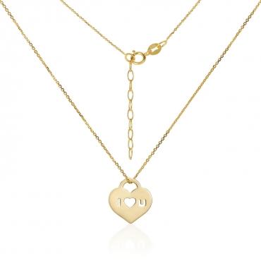 Złota celebrytka Serce Love próba 585