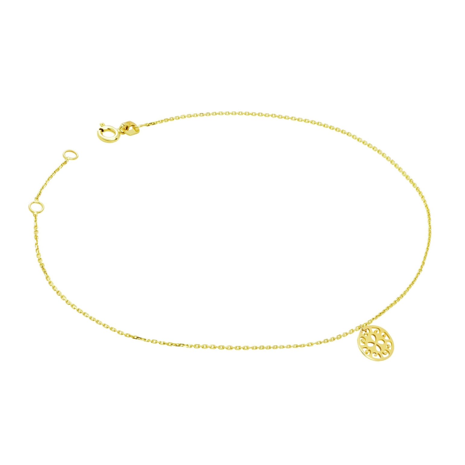 Złota bransoletka na stopę LATO 3.2427s