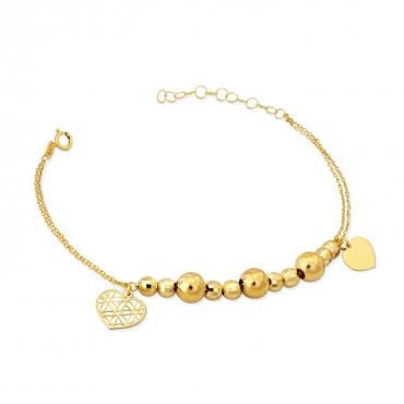 Złota bransoletka Love