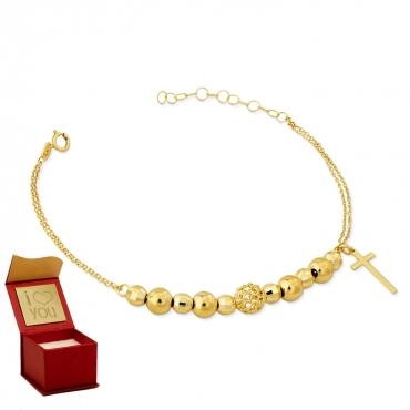 Złota bransoletka Saint