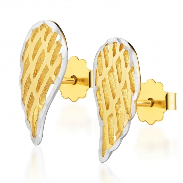 Złote kolczyki skrzydełka Little Things