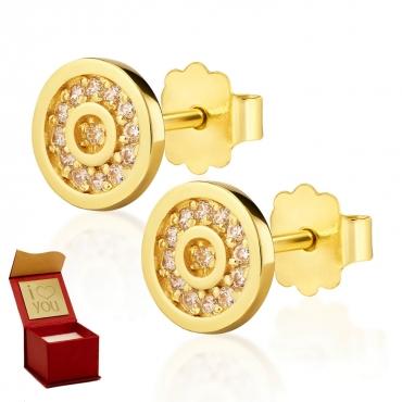 Złote kolczyki Madame Sparkle
