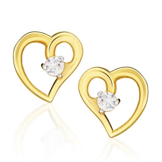 Złote kolczyki Nasza Miłość Little Things