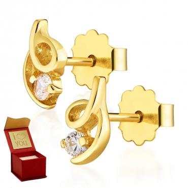 Złote kolczyki Zakręcone Little Things