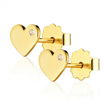 Złote kolczyki Wieczna Miłość Little Things