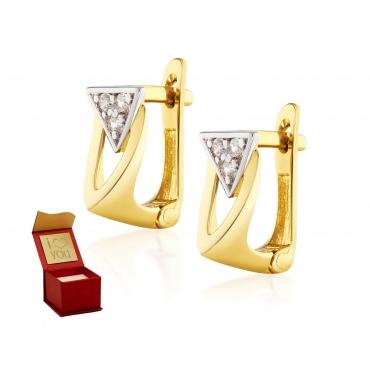 Złote kolczyki Paryskie Sparkle