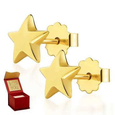 Złote kolczyki Stars Little Things