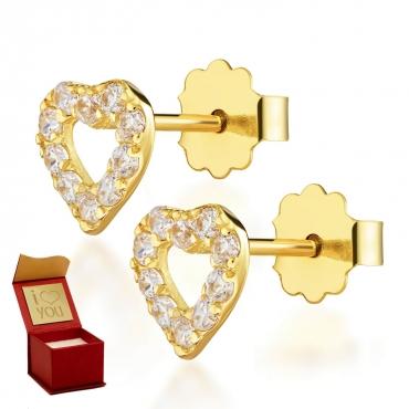 Złote kolczyki Moja Miłość Little Things