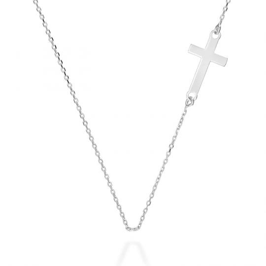 Srebrny naszyjnik typu Sakralnego krzyżyk