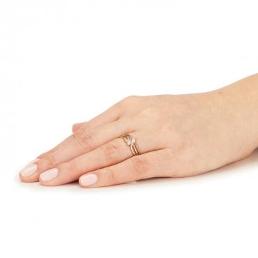 Złoty pierścionek Butterfly