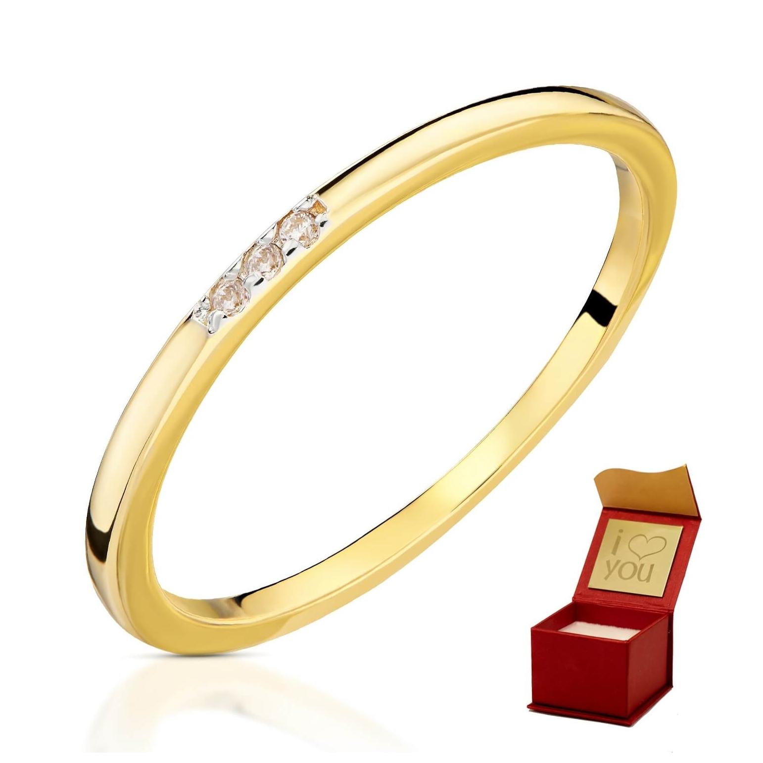 Złoty pierścionek Obrączka 3.1651P