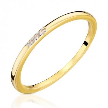 Złoty pierścionek Delikatny okrąg próba 585