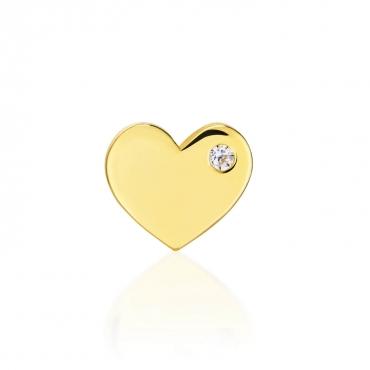 Złoty kolczyk Wieczna Miłość Single