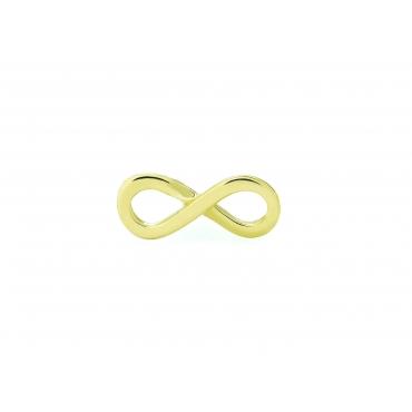 Złoty kolczyk INFINITY NIESKOŃCZONOŚĆ