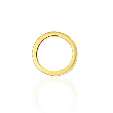 Złoty kolczyk Mia Single