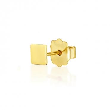 Złoty kolczyk Figaro kolekcja Single