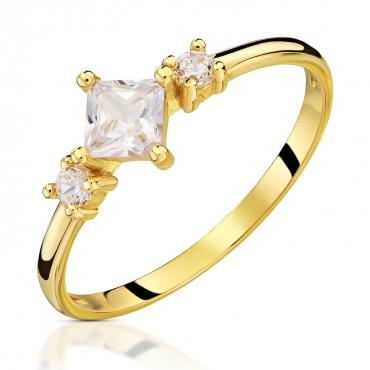 Złoty pierścionek Eric