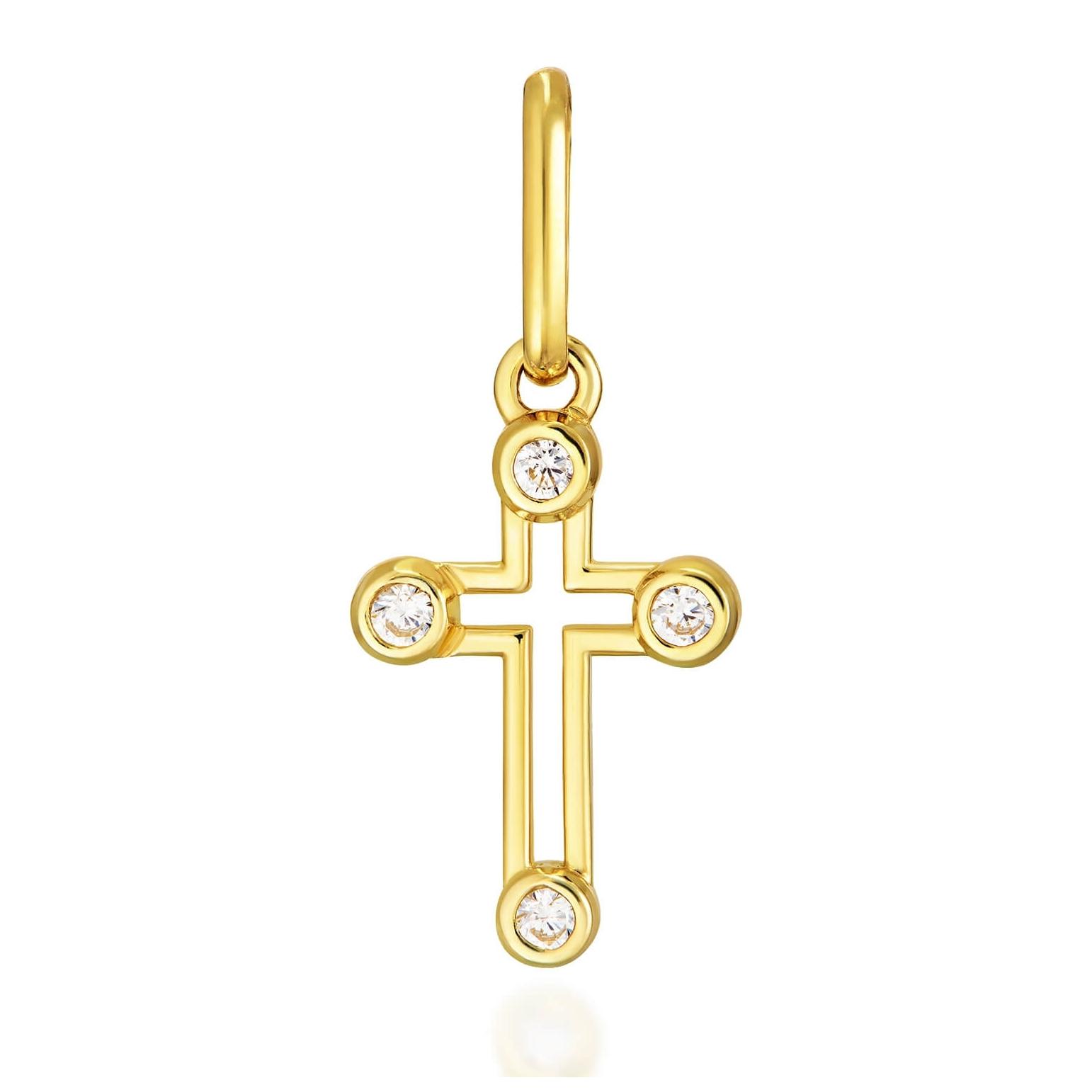 Złoty krzyżyk Zdobiony
