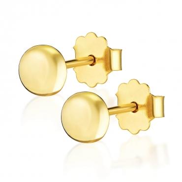 Złote kolczyki 3D połówki Little Things