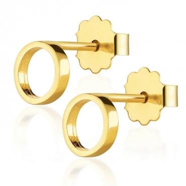 Złote kolczyki Mia Little Things próba 585