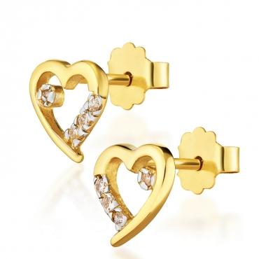 Złote kolczyki Twoja Miłość Little Things