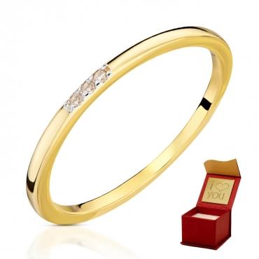 Złoty pierścionek Delikatny okrąg