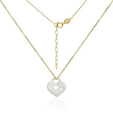 Złota celebrytka Białe Serce Love
